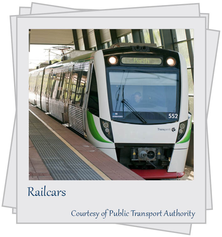 Railcars. Courtesy of Public Transport Authority