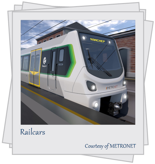 Railcars. Courtesy of METRONET