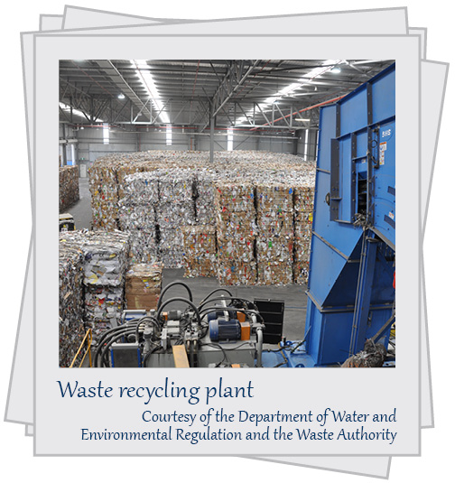 Waste recycling plant. Courtesy of the Department of Water and Environmental Regulation and the Waste Authority