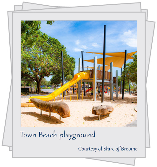Town Beach playground. Courtesy of Shire of Broome